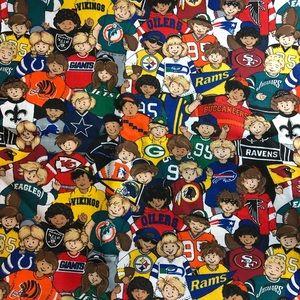 1 1/2 Yards 1996 NFL Football Team Kids Fabric